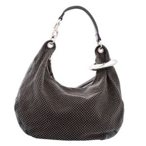 Jimmy Choo Black and Studded Shoulder Bag